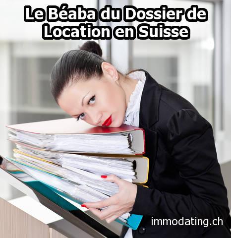 Dossier de location en Suisse